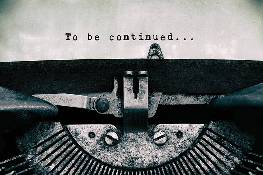 Typewriter reads 'to be continued'