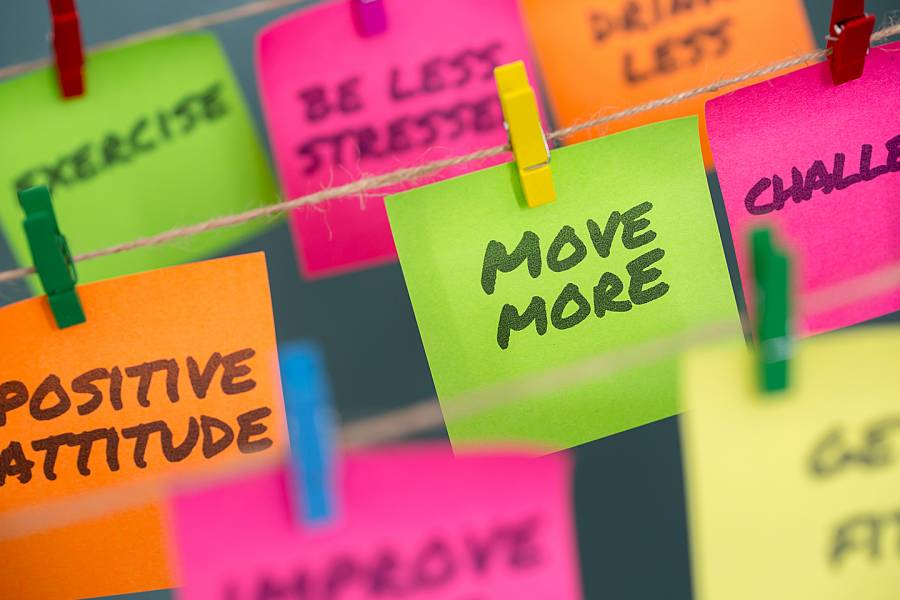 Motivation notes for reaching goals
