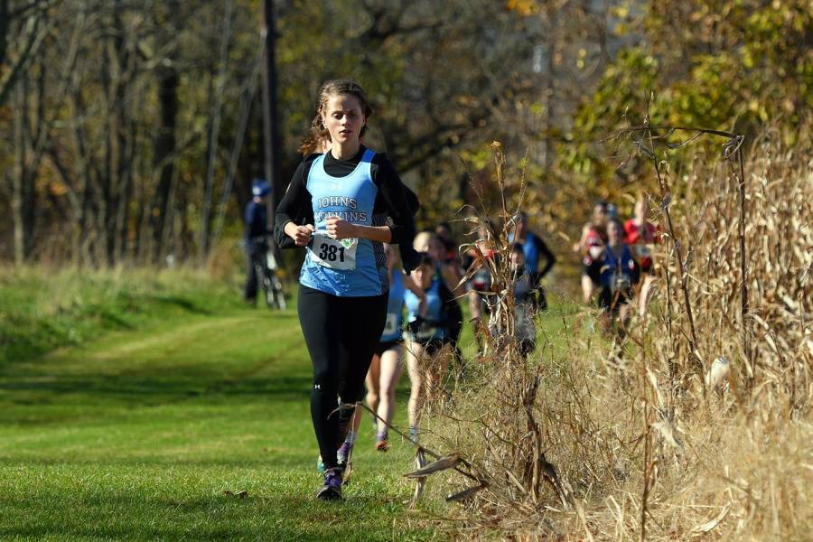 Felicia Koerner runs cross country