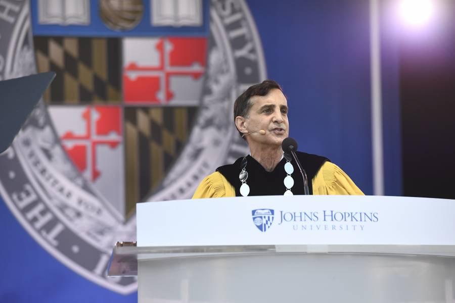 Ronald J. Daniels addresses the graduates