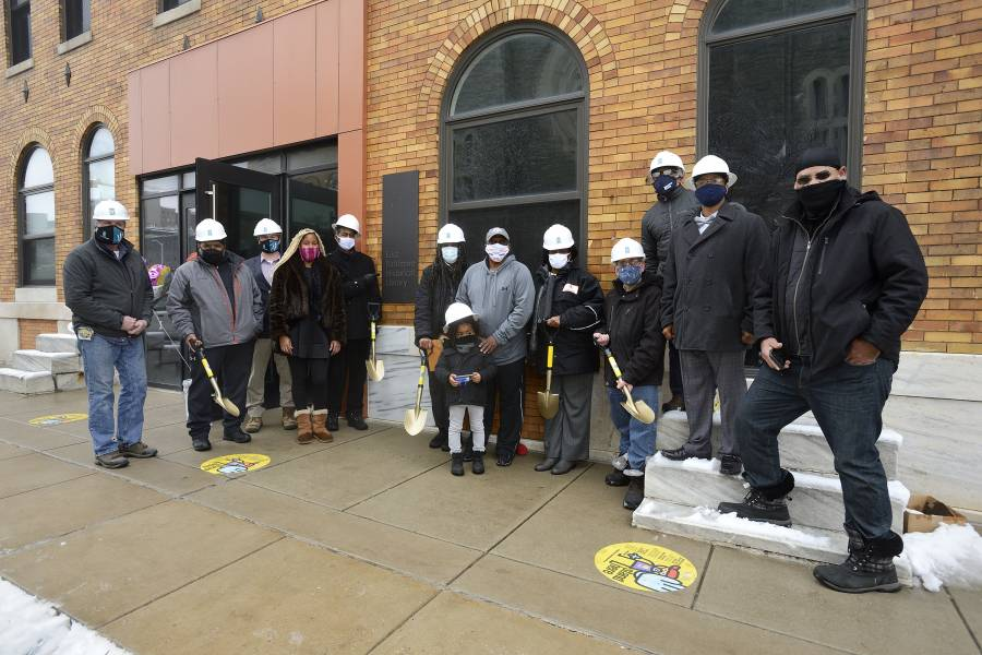 Community leaders and developers prepare to break ground on the East Baltimore Historical Library