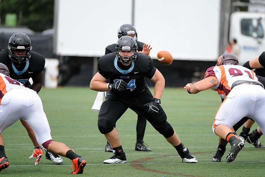Johns Hopkins offensive lineman Colin Egan