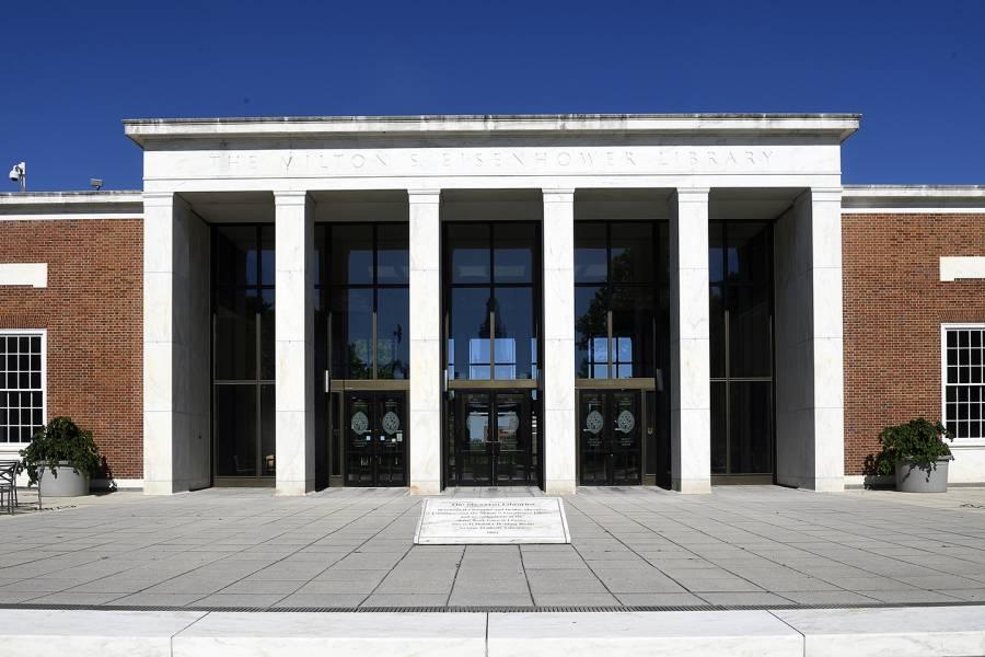 Exterior of Milton S. Eisenhower Library