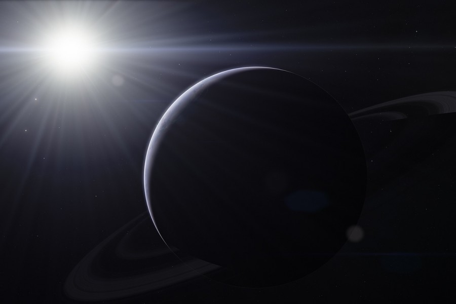 Artist's rendering of an exoplanet
