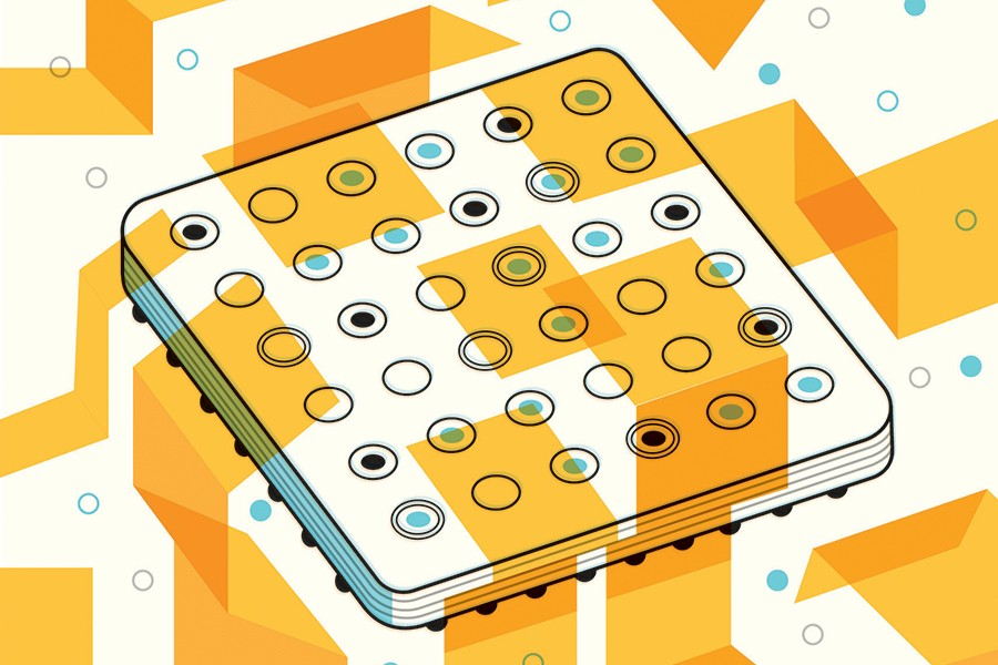 Illustration of a fuel cell