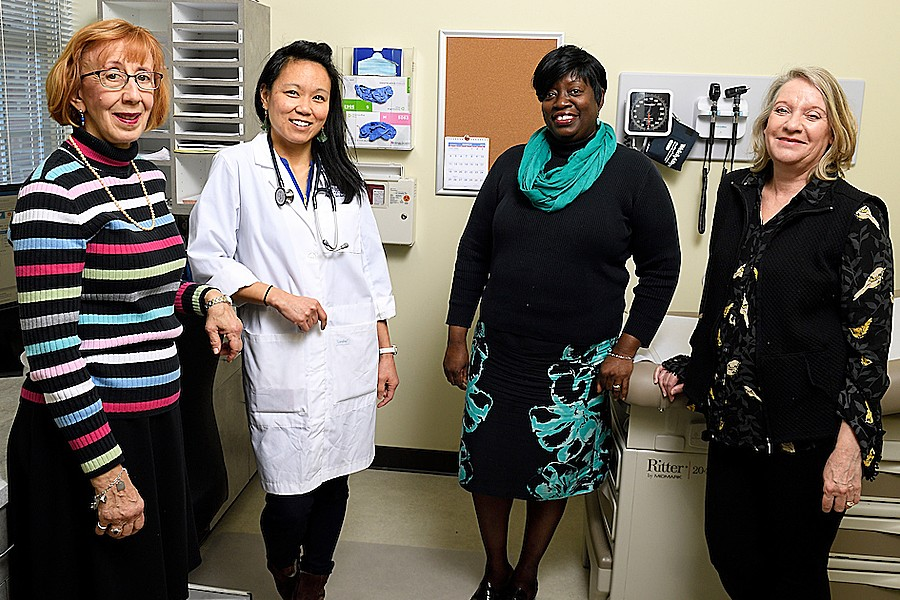 Photo of Health & Wellness team members Deborah Myers, Minnie Sanders, Shelley Dixon, and Carolyn Schopman
