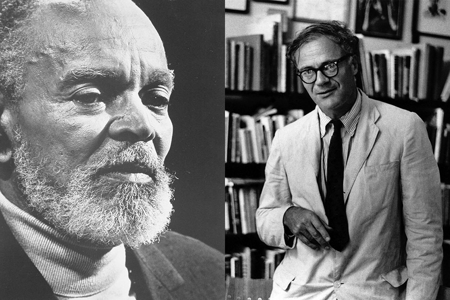 Chester Himes is featured left, Robert Lowell is shown right