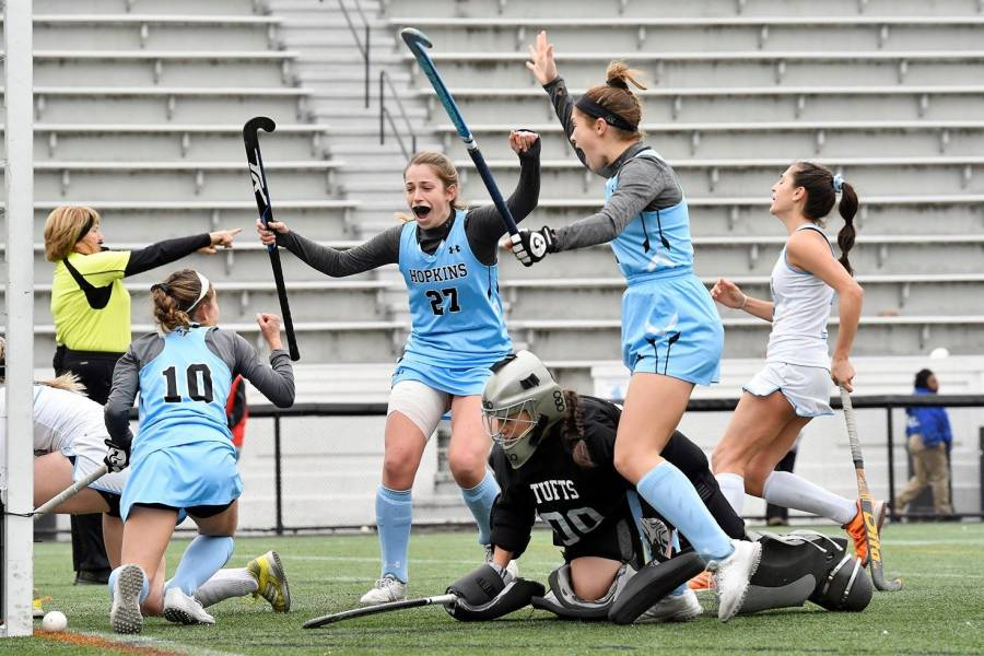 Johns Hopkins celebrates game-winning goal
