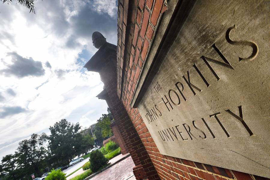 Johns Hopkins University sign