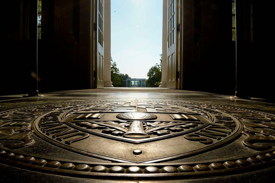 Bronze Johns Hopkins University seal