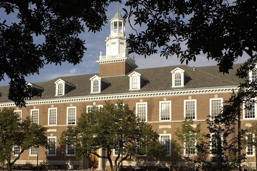 Maryland Hall on the Homewood campus