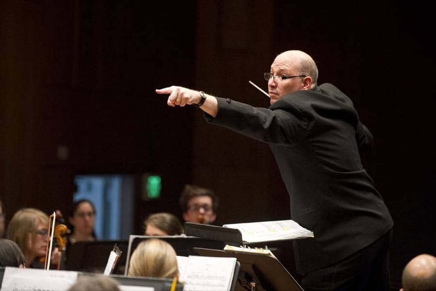Hopkins Symphony Orchestra music director Jed Gaylin