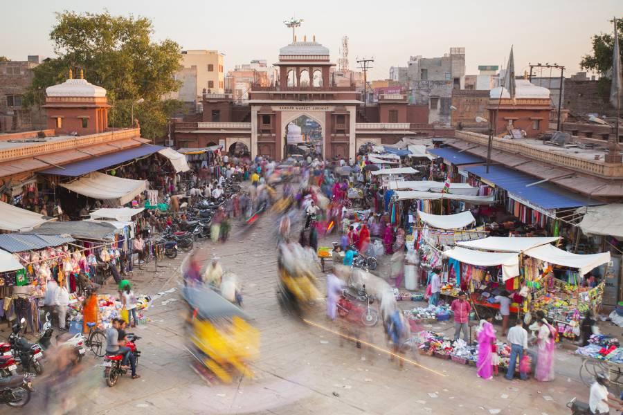 Jodhpur market bustles with life