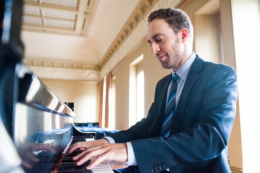 Judah Adashi plays piano