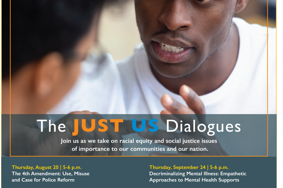 Just Us Dialogues flyer