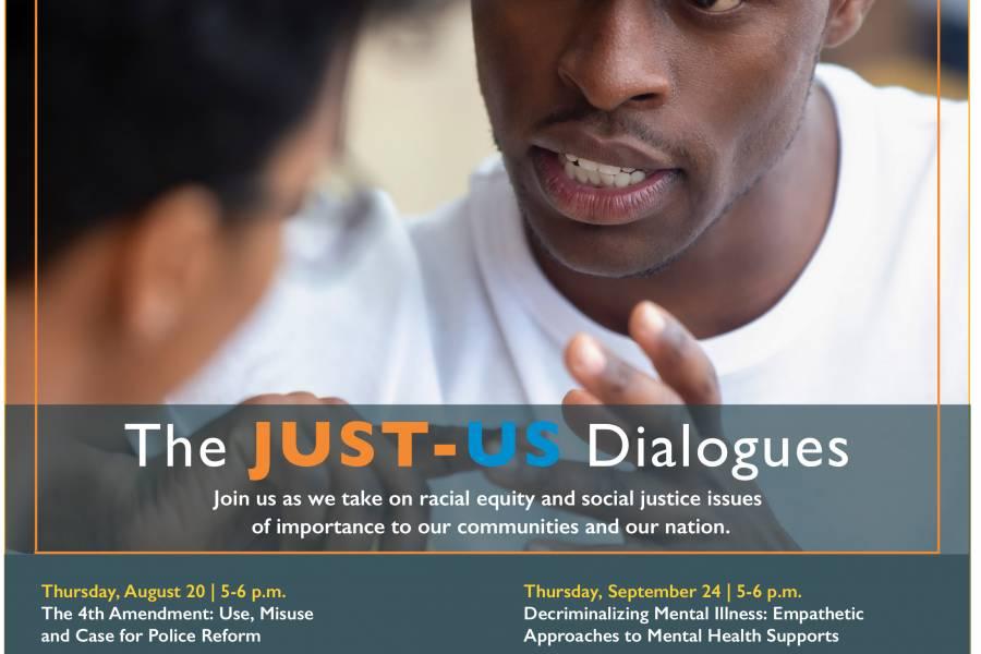 JustUs Dialogues flier