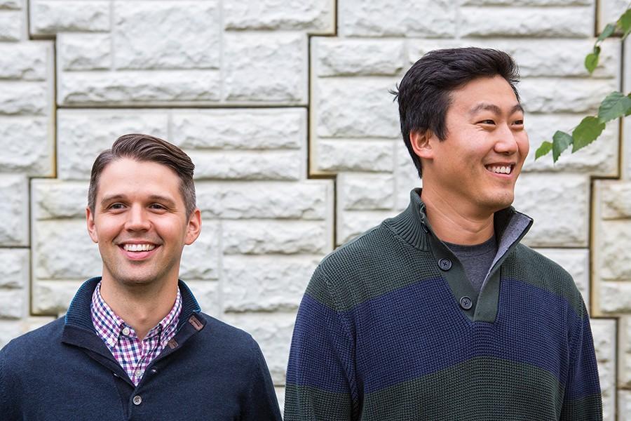 Kestrel Linder (left) and Michael Kong