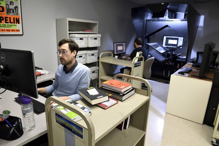 Librarians digitize content
