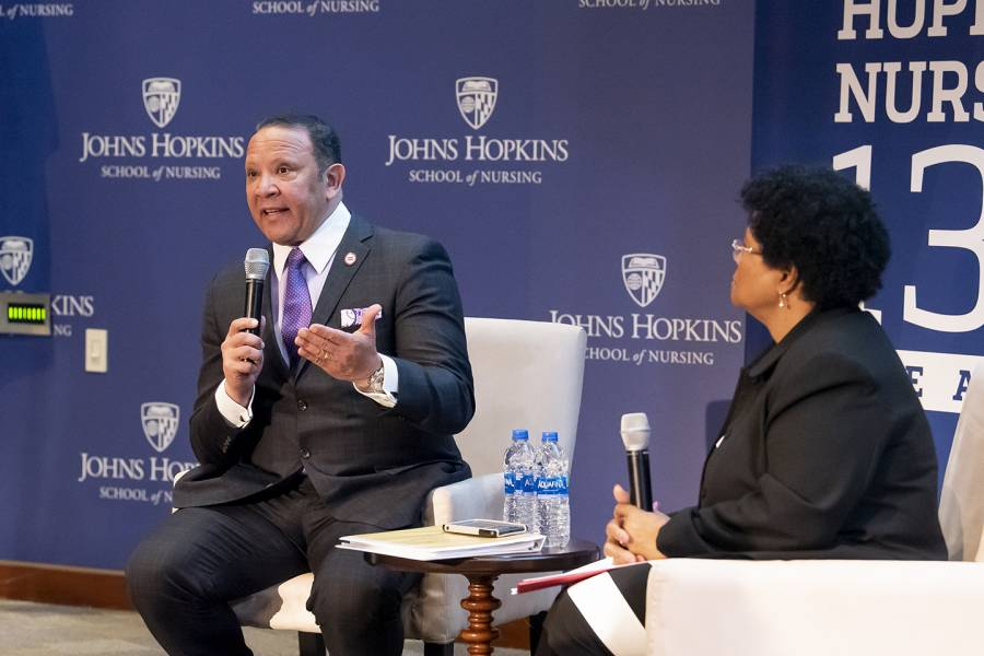 Marc Morial and Phyllis Sharps