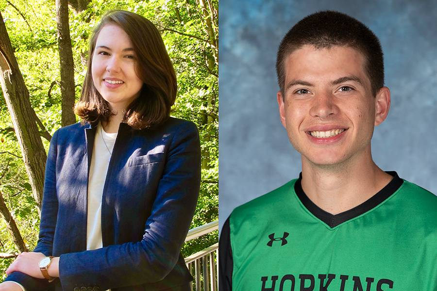 Composite image of Marshall Scholars Chloe Pacyna and Jeremy Ratcliff.