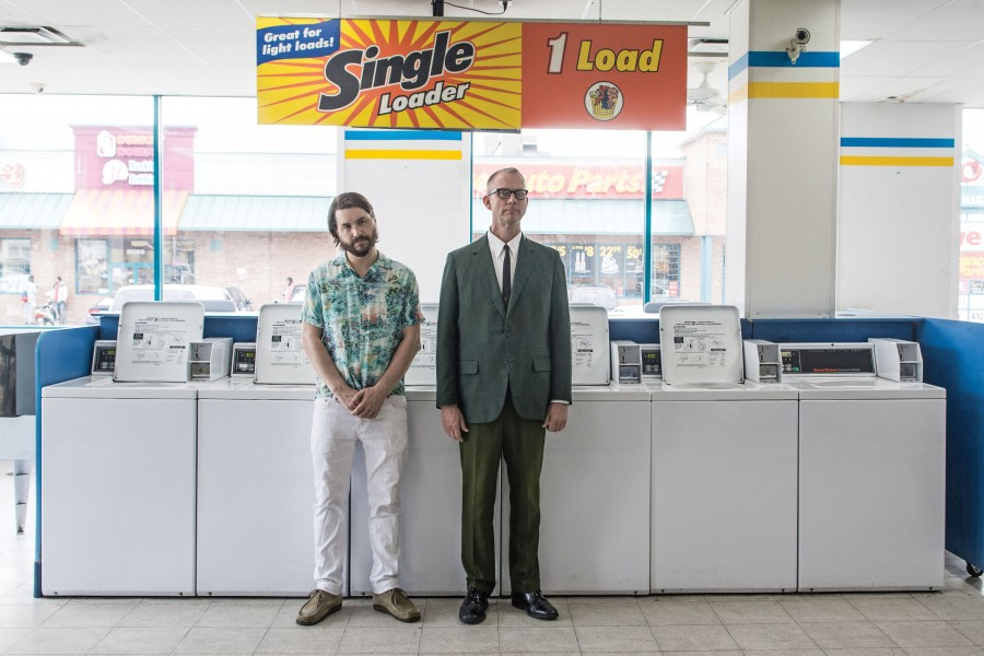 Drew Daniel (l) and M.C. Schmidt (r) are the electronic music duo Matmos.