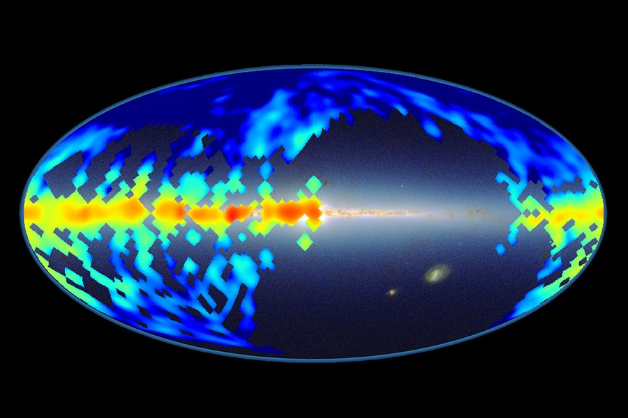 Map of diffuse interstellar bands