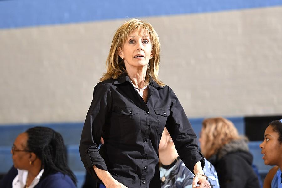 Nancy Funk on the sidelines