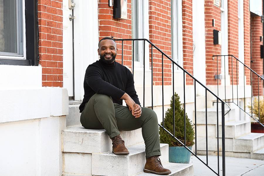 Nicolas Wright at his new home in East Baltimore