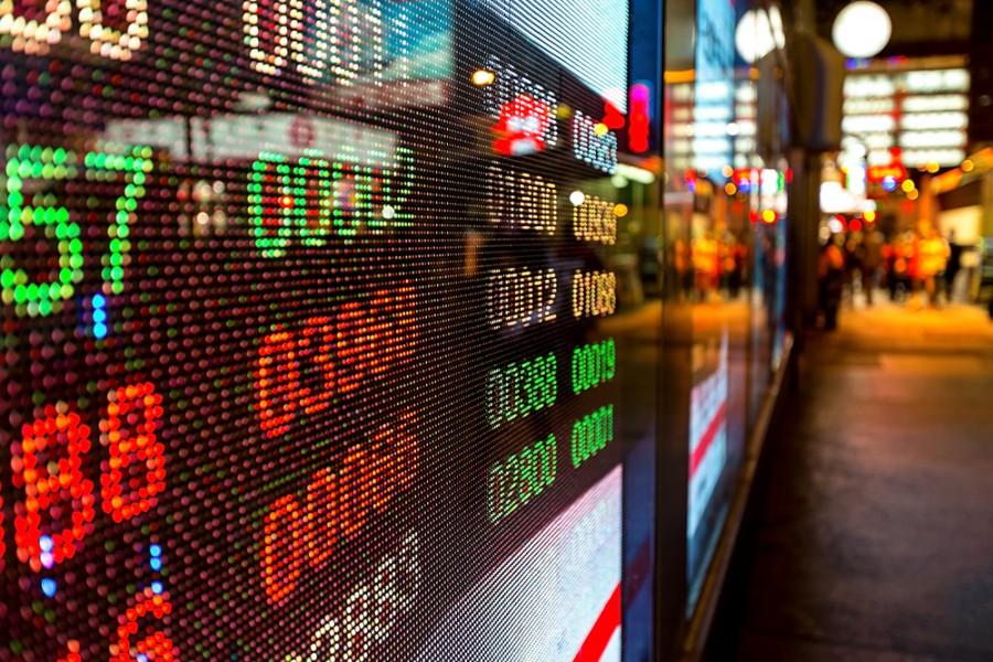 Digital stock market ticker
