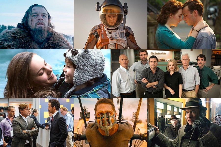 Images from each of eight 2016 Academy Award Best Picture nominees