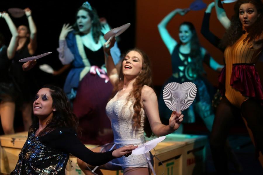 Dancers mid-performance