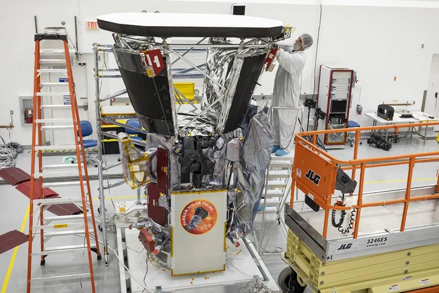 Scientist assembles the Parker Solar Probe