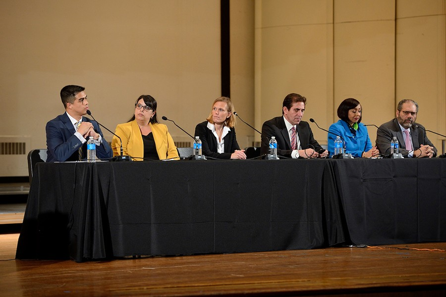 Panelists speak at the JHU Forums on Race in America