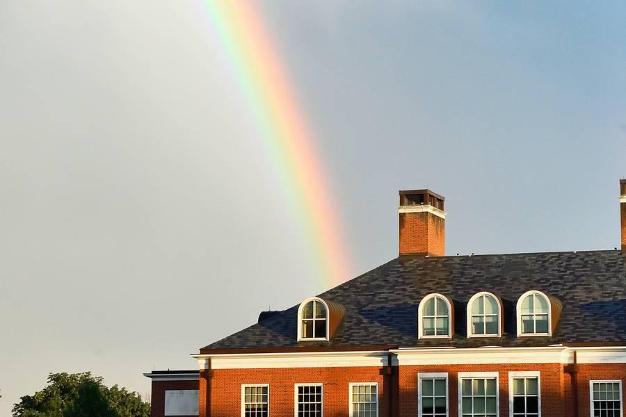 Rainbow over the Homewood campus
