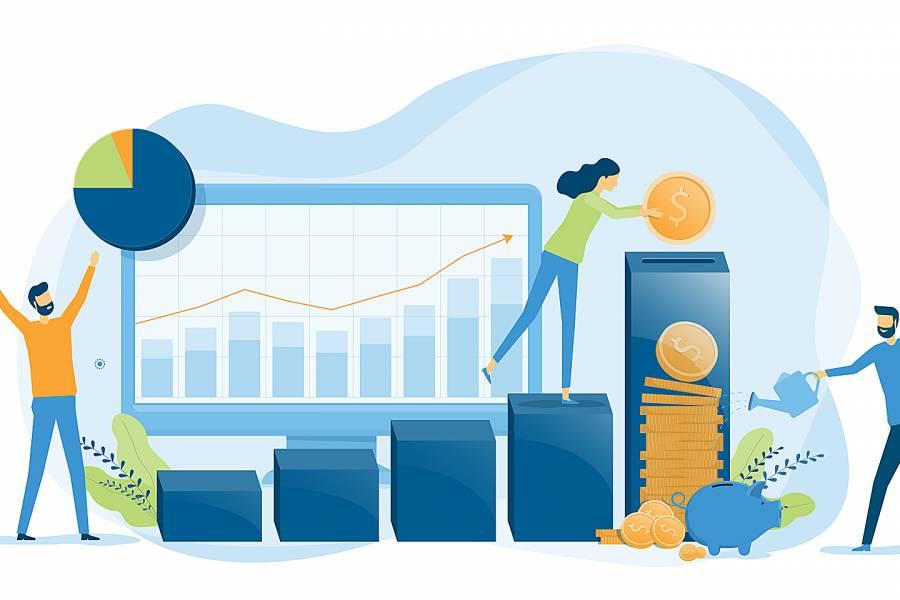 Illustration of finance investments