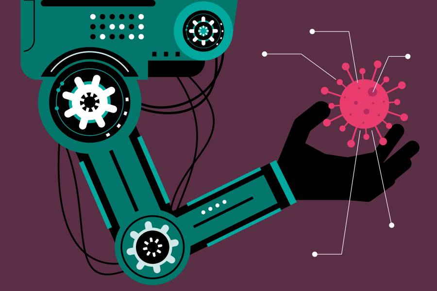 Illustration of a robot arm