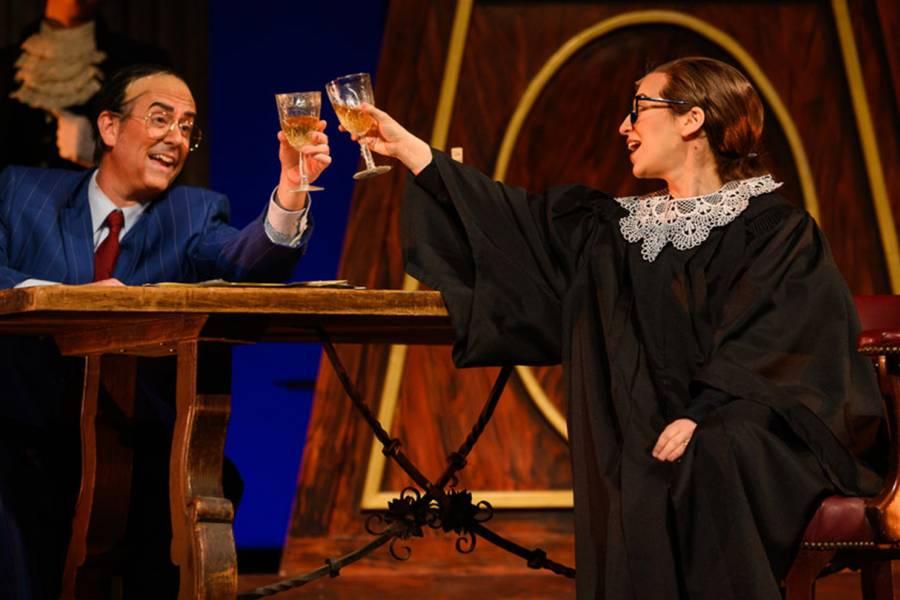 Actors play Antonin Scalia and Ruth Bader Ginsburg