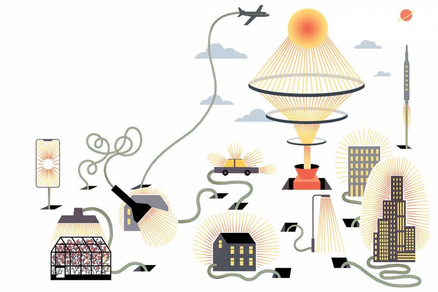 Illustration of power grid