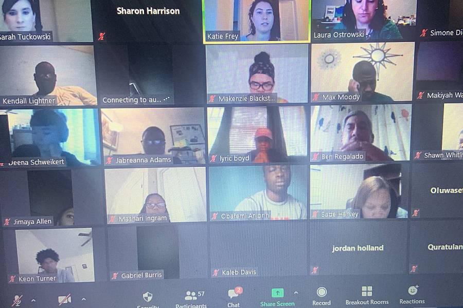 Screen shot of a virtual 2020 Summer Jobs Program session