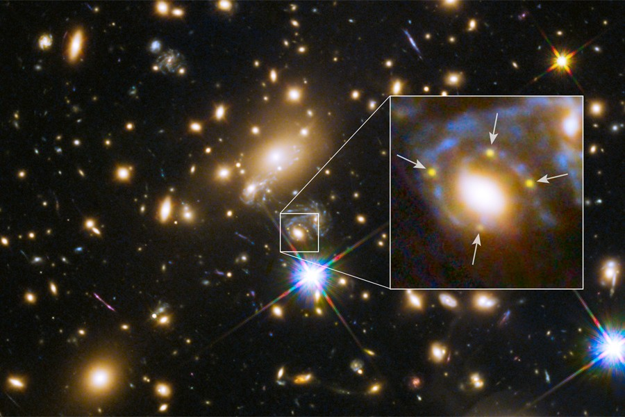 Hubble space telescope image of supernova