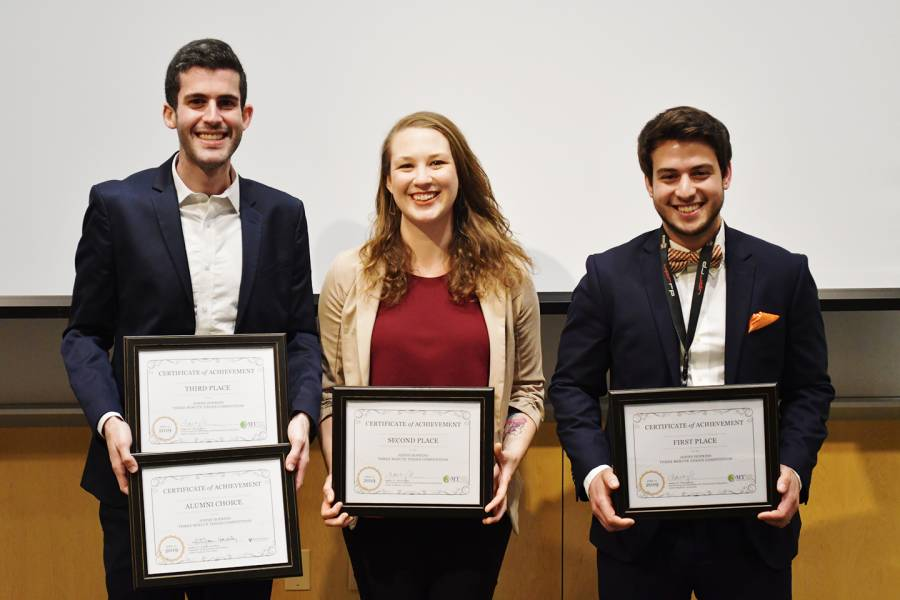 Winners of the 3-Minute Thesis Competition