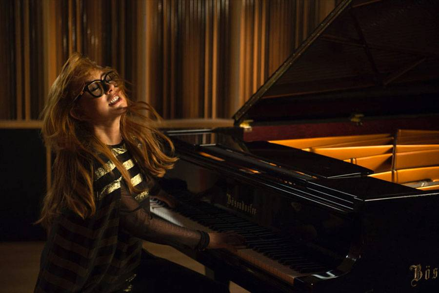 Tori Amos at the piano