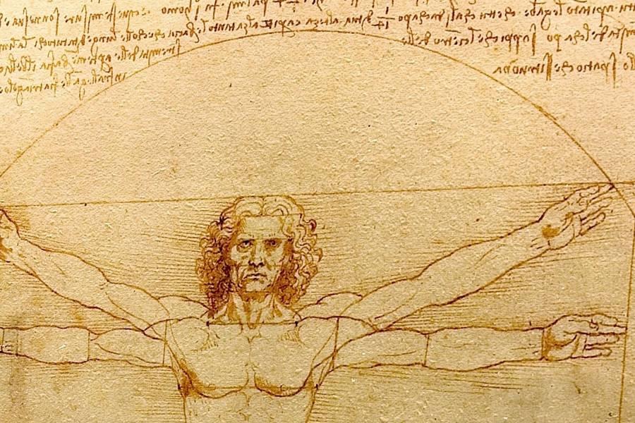 Detail from Leonardo da Vinci's