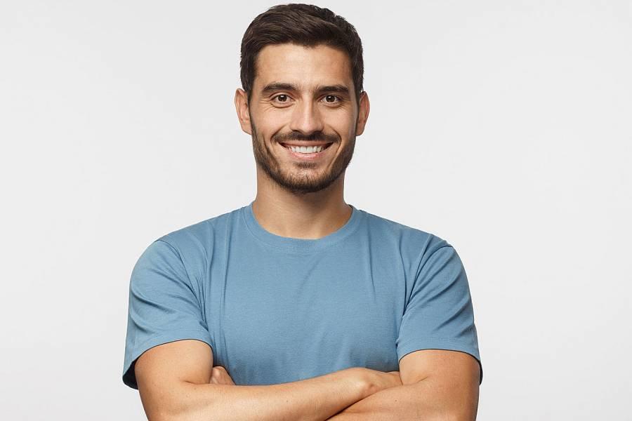 Smiling, healthy-looking man