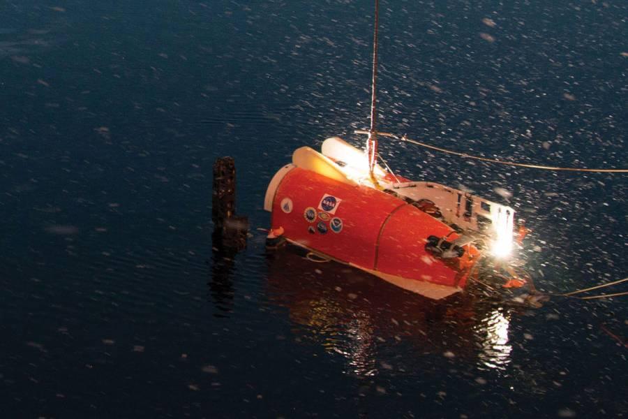 Nereid Under Ice launches to explore the Karasik Seamount.