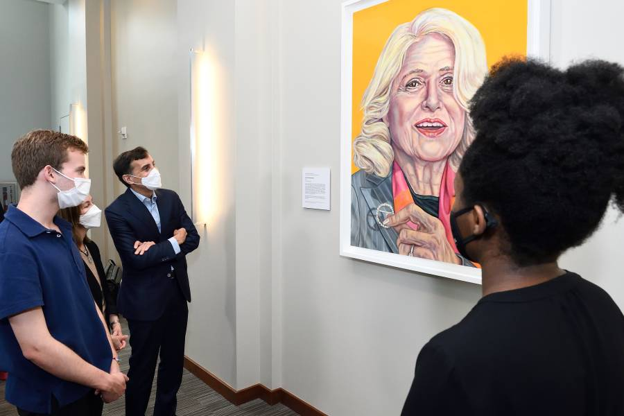 Guests at the Edith Windsor portrait unveiling