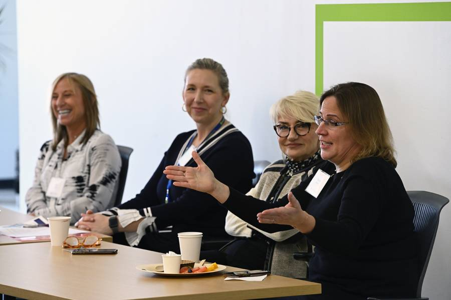Panelists speak at Women in Innovation event