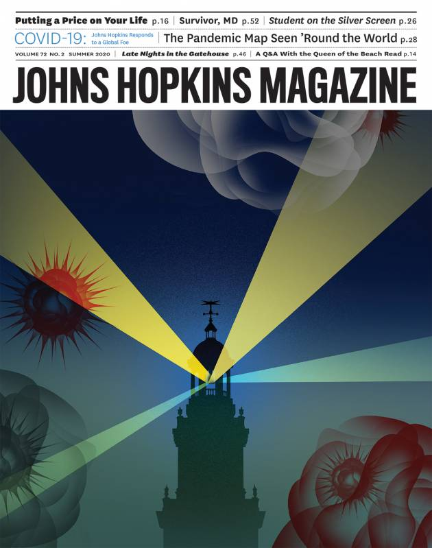 Cover image of summer 2020 magazine issue shows the Gilman clock tower as a lighthouse