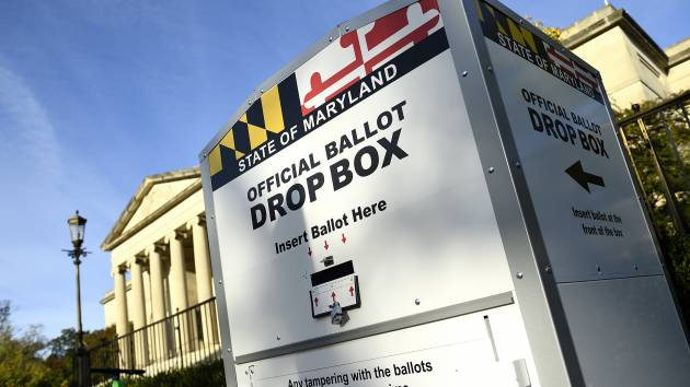 Ballot drop box in Maryland