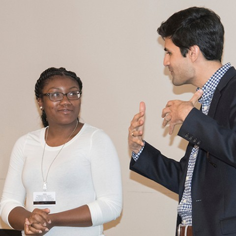 Trisha Feldman (left) and her mentor, Affan Sheikh